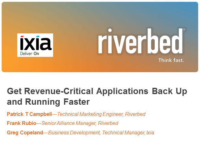 Get revenue-critical applications back up and running faster