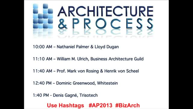 Architecture & Process: The Business Architecture Virtual Summit
