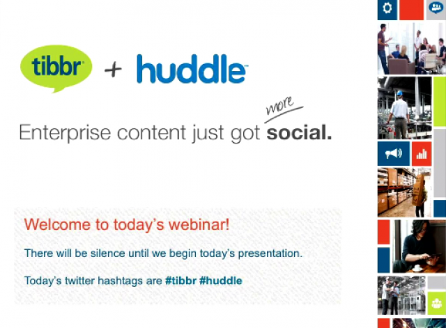Huddle and tibbr – enterprise content just got more social