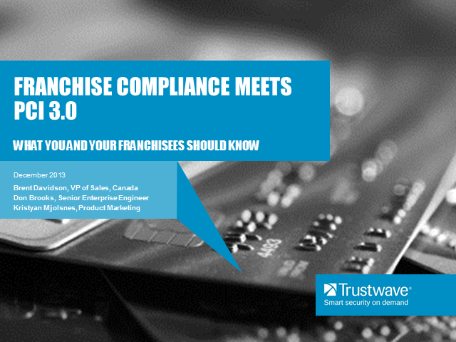 Franchise Compliance Meets PCI 3.0