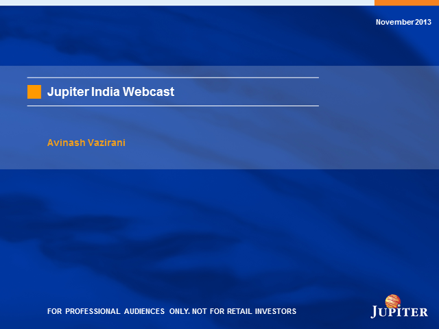 Jupiter India Fund and Jupiter India Select SICAV