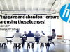 Don't acquire and abandon – ensure you are using those licenses!