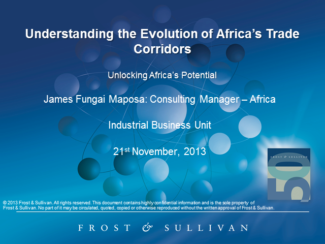 Understanding the Evolution of Africa's Trade Corridors
