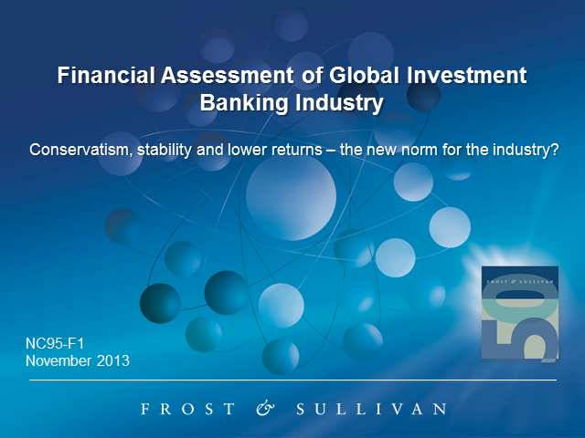 Financial Benchmarking of the Global Investment Banking Industry
