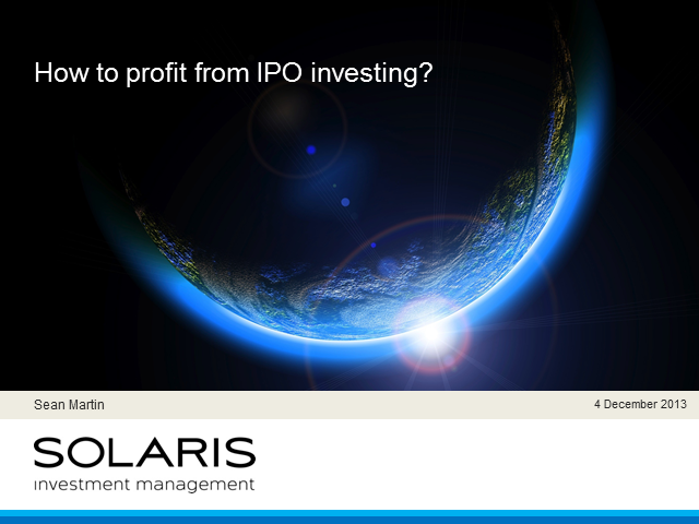 How to Profit from IPO investing?