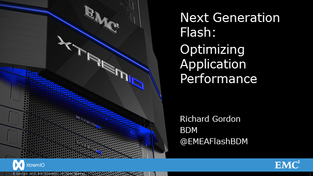Next Generation Flash: Optimizing Application Performance