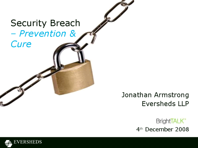 Security Breach - Prevention & Cure