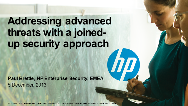 Addressing Advanced Threats with a Joined-Up Security Approach