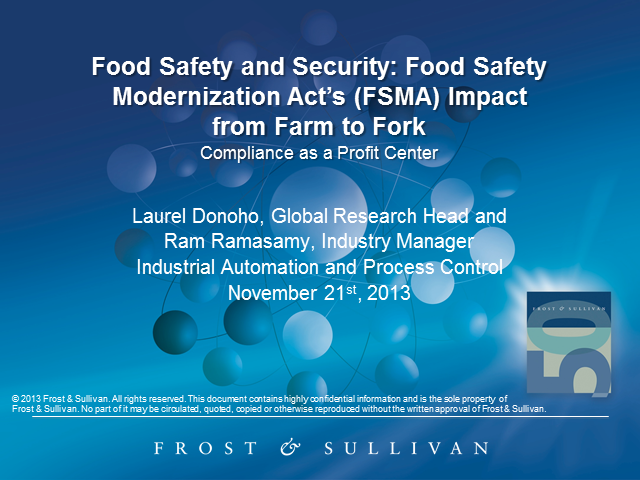 Food Safety and Security: FSMA's Impact from Farm to Fork