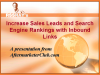 Increase Sales Leads and Search Rankings with Inbound Links