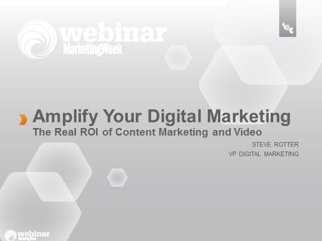 Amplify your Digital Marketing - Understanding the Real ROI of Content Marketing