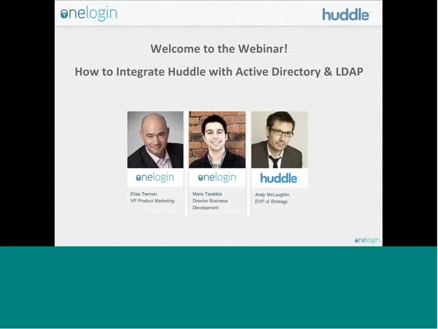 Quick and secure access to Huddle with single sign-on