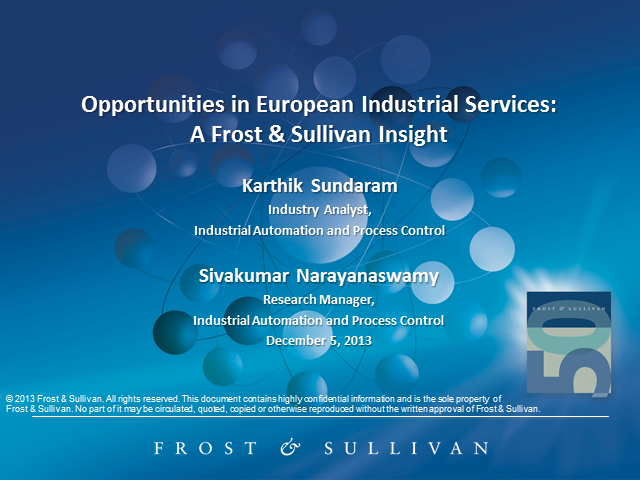 Opportunities in European Industrial Services: Frost  & Sullivan Insight