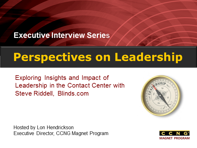 Perspectives on Leadership with Steve Riddell, COO, Blinds.com