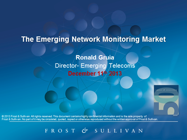 The Emerging Network Monitoring Market
