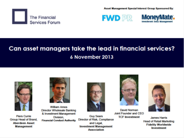 Can Asset Managers Take the Lead in Financial Services?