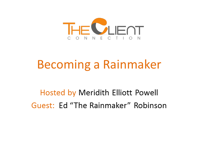 Becoming a Rainmaker