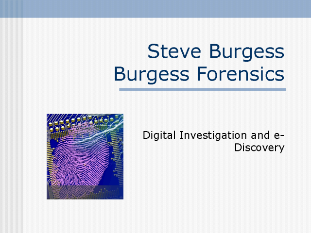Digital Investigation and e-Discovery