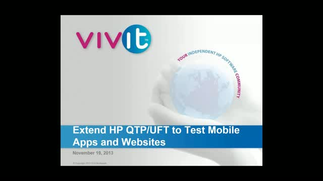 Extend HP QTP/UFT to Test Mobile Apps and Websites