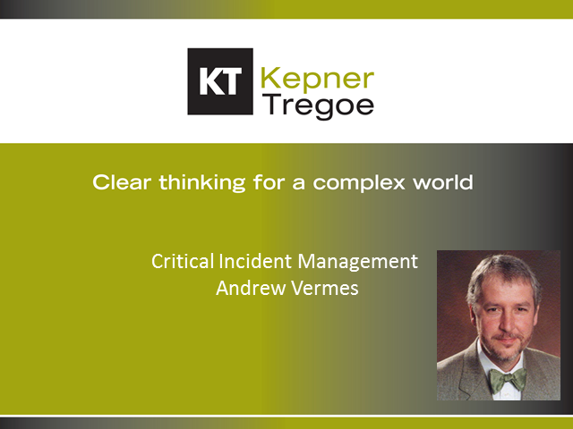 Cut the Noise: Better Critical Incident Management