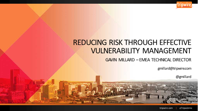 Reducing Risk Through Effective Vulnerability Management
