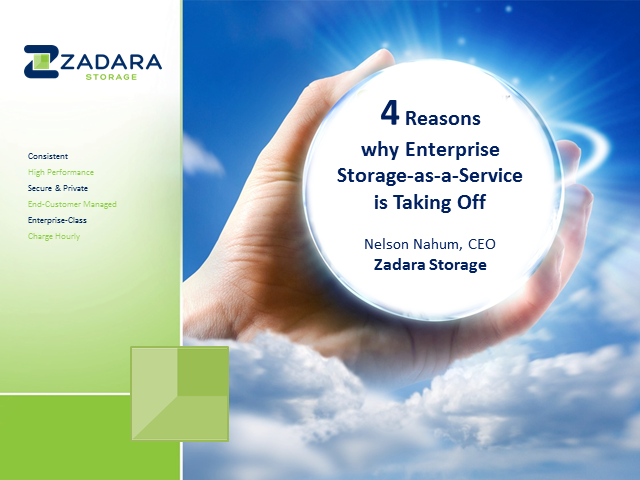 Four Reasons Why Enterprise Storage as a Service is Taking Off
