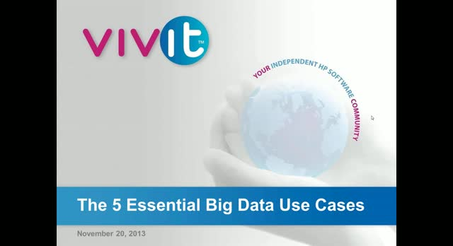 The 5 Essential Big Data Use Cases