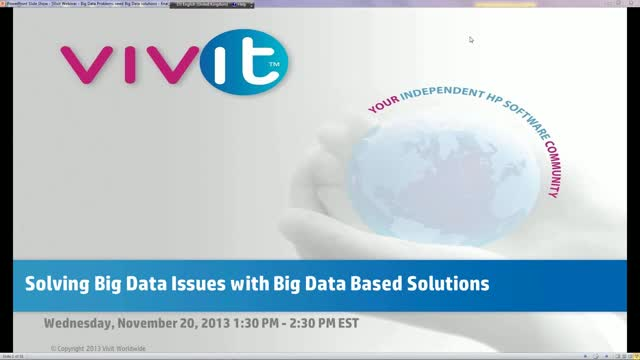 Solving Big Data Issues with Big Data Based Solutions