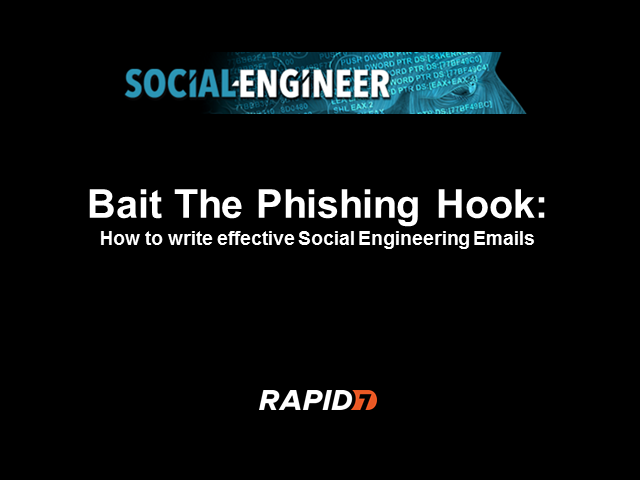 Bait the Phishing Hook: How To Write Effective Social Engineering Emails