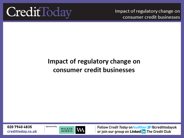 The changing face of regulation in consumer credit with the move from OFT to FCA