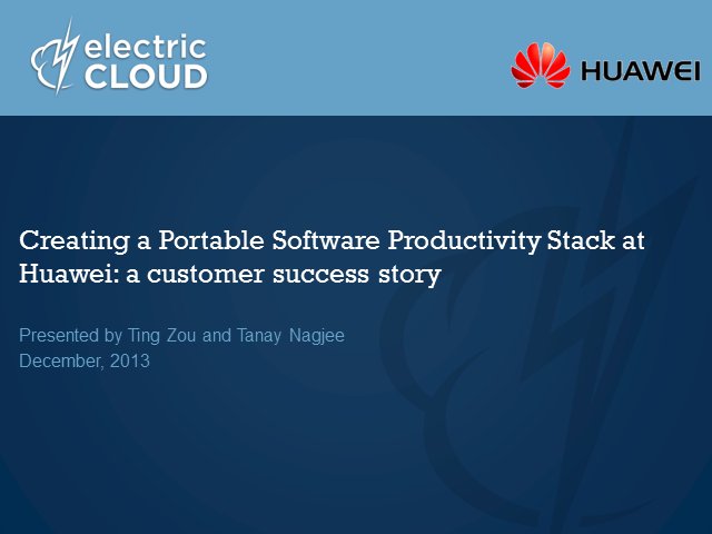 Creating a Portable Software Productivity Stack at Huawei