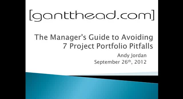 Manager's Guide to Avoiding 7 Project Portfolio Pitfalls