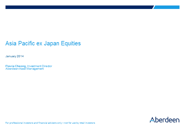 Asia Pacific ex Japan Equities Q4 2013