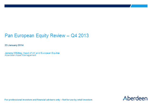 UK and European equities Q4 2013