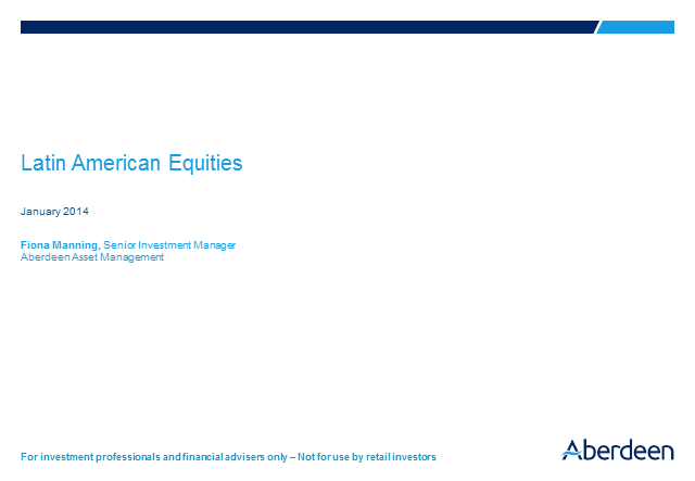 Latin American Equities Q4 2013