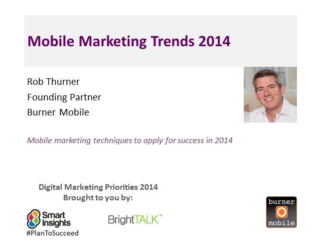 Mobile marketing trends 2014