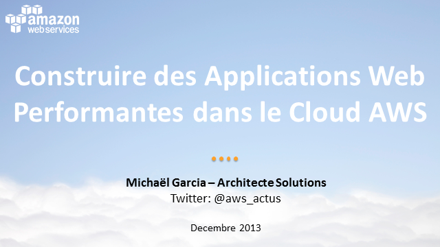 Un voyage dans le Cloud : Applications Web
