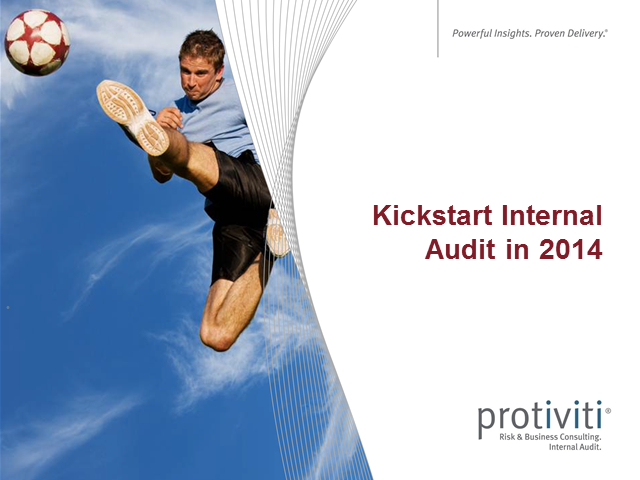 Kickstart Internal Audit in 2014