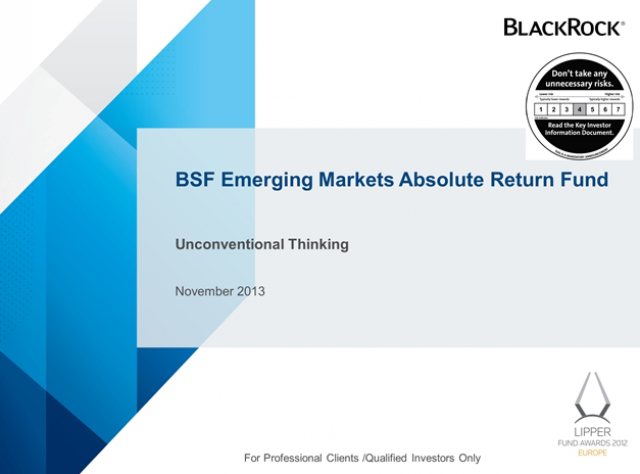 BSF Emerging Markets Absolute Return Fund One year anniversary