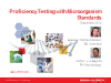 Proficiency Testing with Microorganism Standards