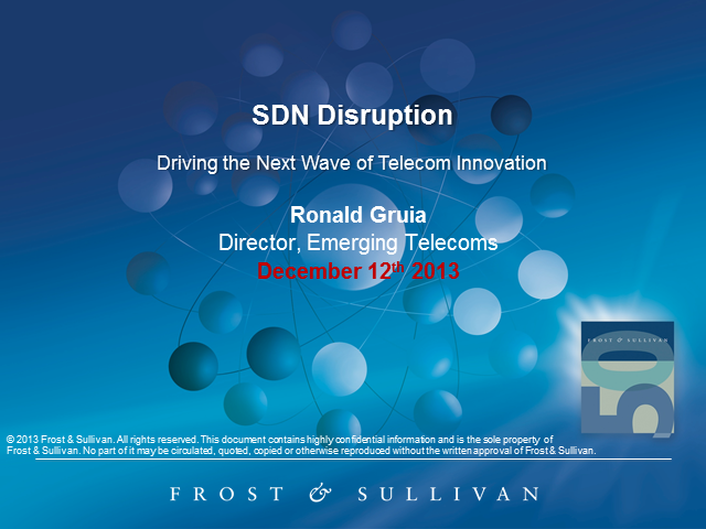 Are you Prepared for the Disruptions of Software Defined Networking?