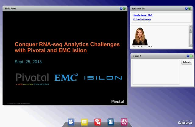 Conquer RNA-seq Analytics Challenges with Pivotal and EMC Isilon