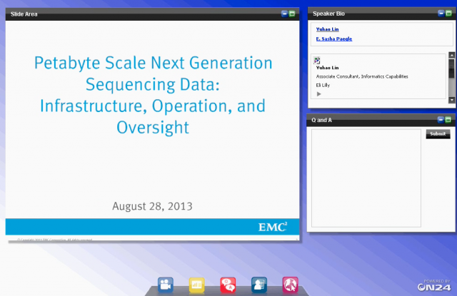 Petabyte Scale Next Generation Sequencing Data