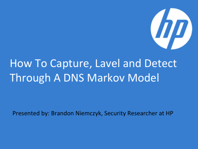 How to Capture, Label, and Detect through a DNS Markov Model