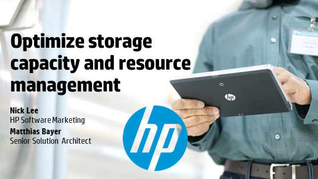 Optimize storage capacity and resource management