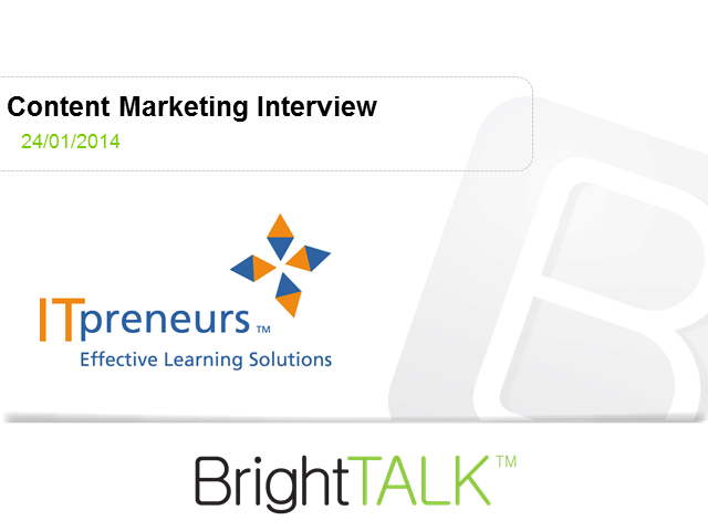 Content Marketing Interview with ITpreneurs