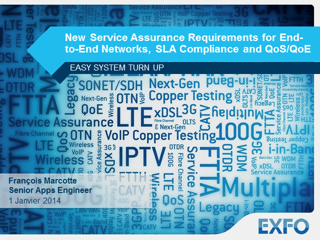 New Service Assurance Requirements for End-to-End Network, SLA Compliance