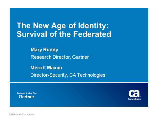 The New Age of Identity: Survival of the Federated