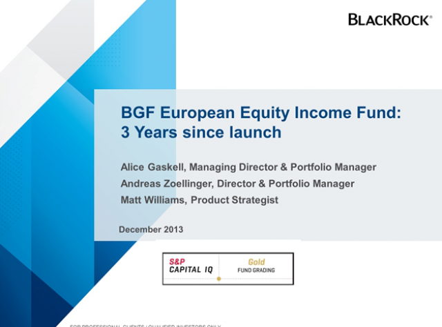 BGF European Equity Income Fund 3 year anniversary