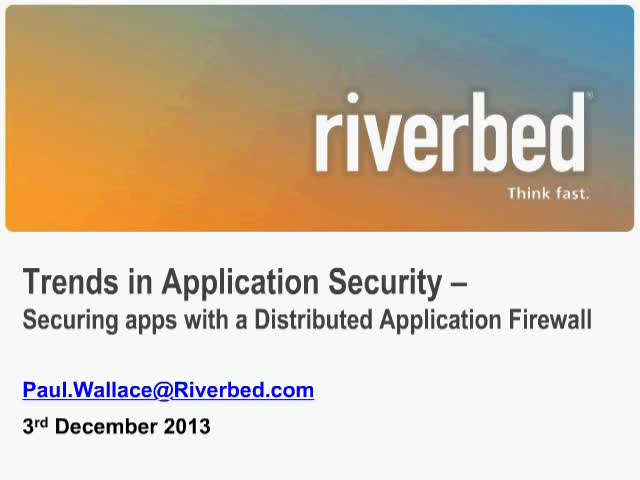 Trends in Application Security